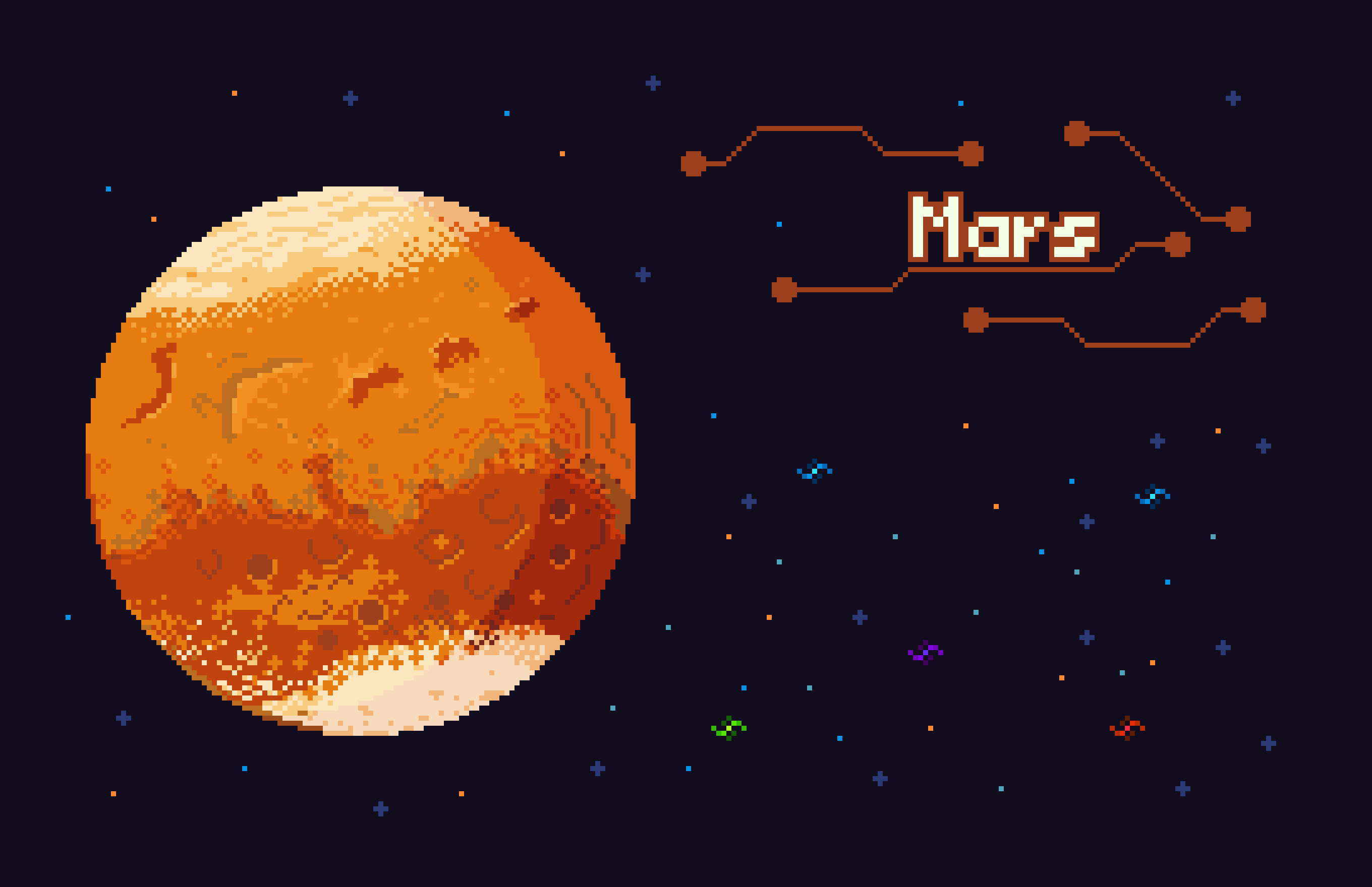 Image showing mars in space